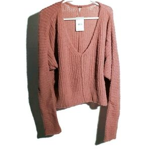 FREE peopl NEW Moonbeam Rose M long sleeve sweater
